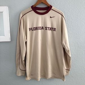 Nike Florida State FSU Long Sleeve Gold Red Shirt